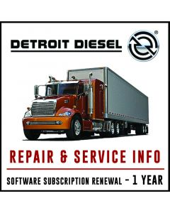 Detroit Diesel Repair & Service Info Software Subscription 1 Year Software Subscription Renewal