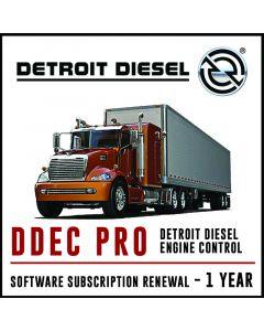 Detroit Diesel DDEC PRO Software Subscription  1 Year