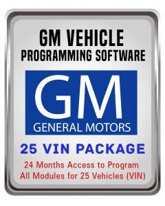 GM Vehicle Programming Software - 25 VIN PKG