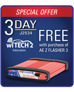 AEZ Flasher 3 + FREE 3 DAY wiTECH 2 J2534 Subscription
