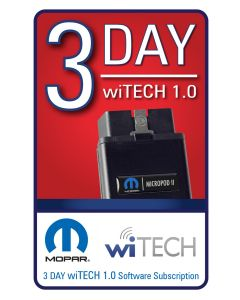 wiTECH 1 Software 3 Day Subscription