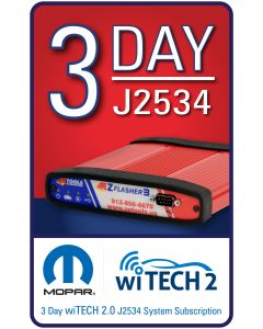 wiTECH 2.0 - 3 Day Subscription for J2534 Device ONLY